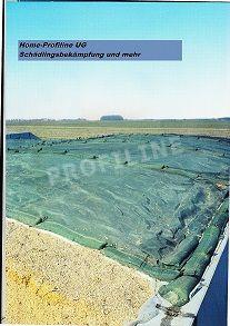 Abdecknetz, Schutzgitter gegen Vögel und Krallentiere.  6 x 10 mtr. Grün