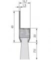 8.  Winkelbürsten, 180° , Winkel Türbesen, Rolltore, Garagentore, Hallentore, Türen 200 cm Breite