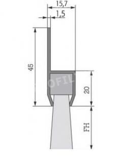8.  Winkelbürsten, 180° , Winkel Türbesen, Rolltorebesen, Garagentore, Hallentore, Türen 200 cm Breite