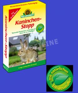 Kaninchenabwehr als anwendungsfertiges Repelent auf natürlicher Basis pflanzlicher Rohstoffe.