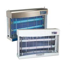 Titan 300 UV-Licht Insektenbekämpfung wandmontiert 90qm freihängend 160qm, Weiß oder Edelstahl