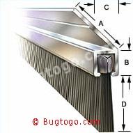 Türdichtung Winkelbürsten mit 135° Winkelstellung 2m Breite Türbesen